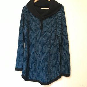 Great Northwest lndigo Cowl Neck Sweater